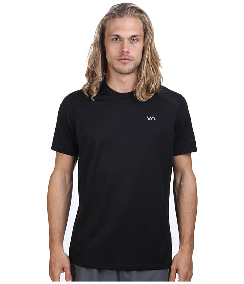 RVCA - Outpost S/S Sport Knit (Black) Men's Short Sleeve Pullover
