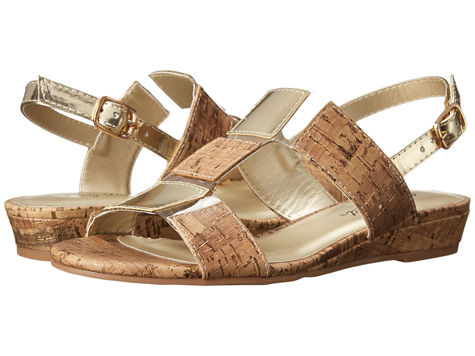 Easy Street - Havana (Cork w/ Gold Fleck/Gold) Women's Shoes