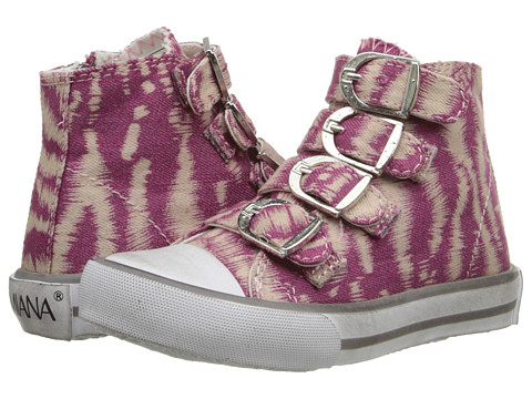 Amiana - 15-A5172 (Toddler/Little Kid/Big Kid/Adult) (Pink/White Zebra Denim) Girl's Shoes