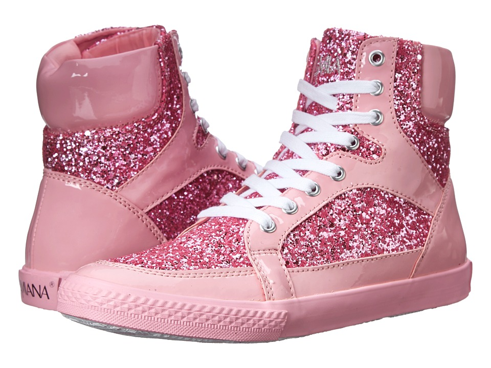 Amiana - 15-A5289 (Toddler/Little Kid/Big Kid/Adult) (Pink Patent/Pink Glitter) Girl