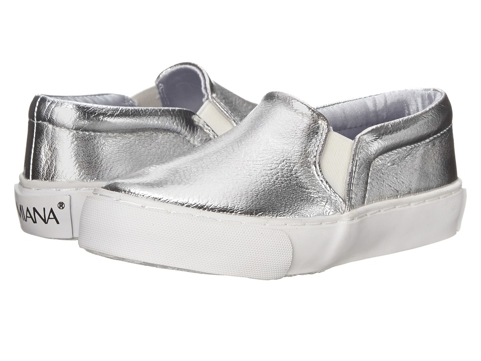 Amiana 15-A5327 (Little Kid/Big Kid/Adult) (Silver Tumbled Metallic) Girl