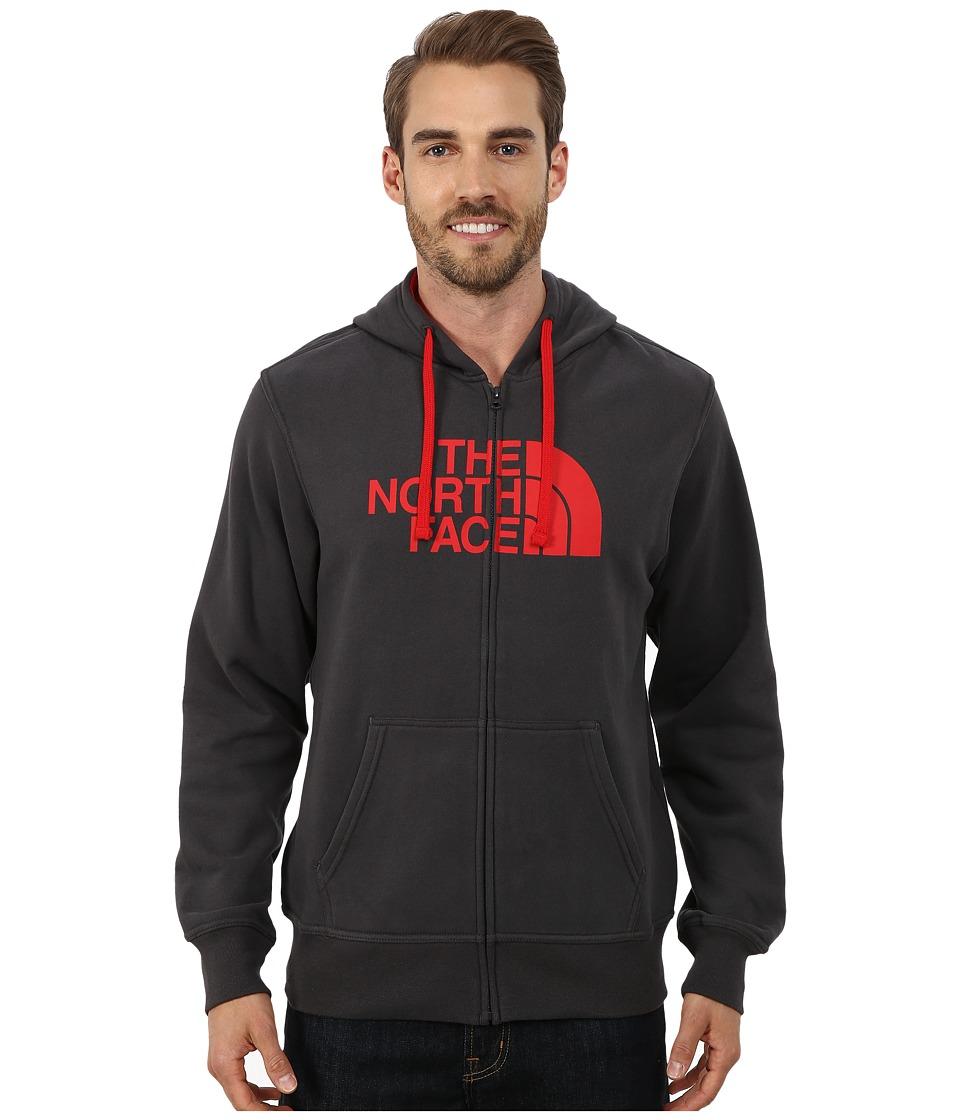 The North Face - Half Dome Full Zip Hoodie (Asphalt Grey/TNF Red) Men's Sweatshirt