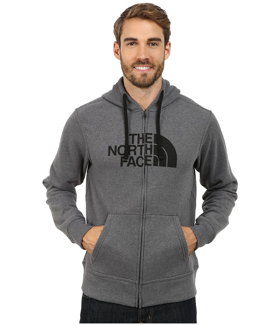 The North Face - Half Dome Full Zip Hoodie (Asphalt Grey Heather/TNF Black) Men's Sweatshirt