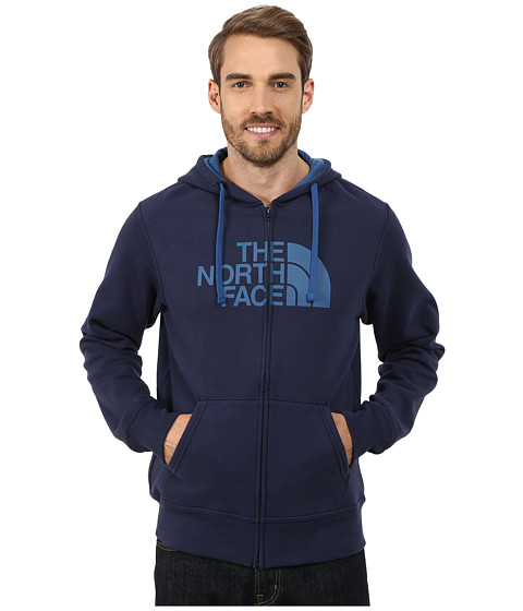 The North Face - Half Dome Full Zip Hoodie (Cosmic Blue/Dish Blue) Men's Sweatshirt