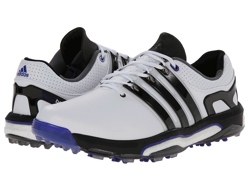 adidas Golf - Asym Energy Boost LH (Running White/Core Black/Night Flash) Men's Golf Shoes