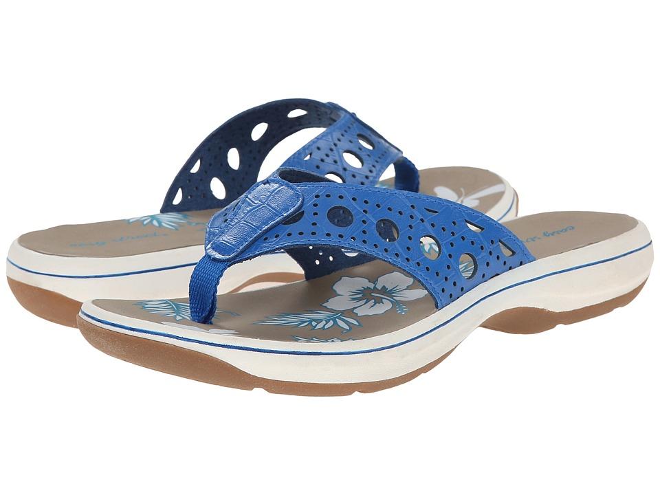 Easy Street - Tropic (Blue Croco) Women's Sandals