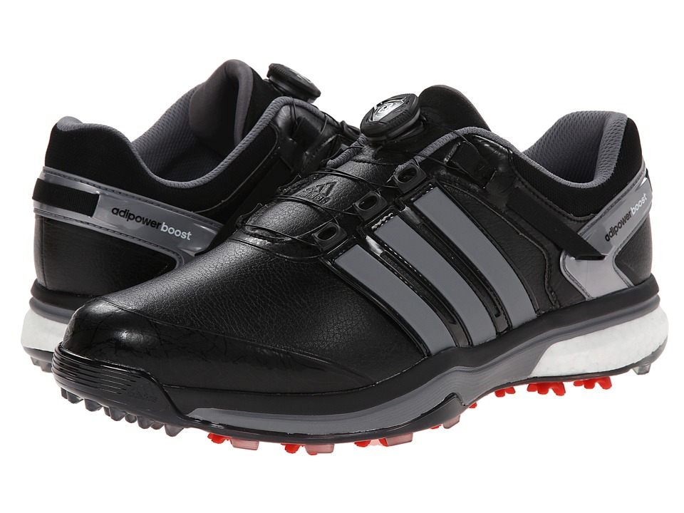 adidas Golf - adiPower Boost Boa (Core Black/Iron Metallic/Core Black) Men's Golf Shoes