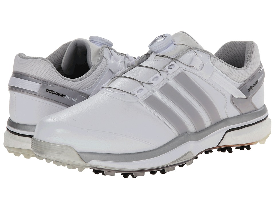 adidas Golf - adiPower Boost Boa (Running White/Dark SilverMetallic/Running White) Men's Golf Shoes