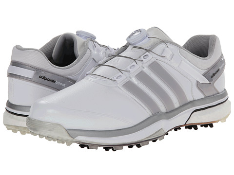 adidas Golf - adiPower Boost Boa (Running White/Dark SilverMetallic/Running White) Men