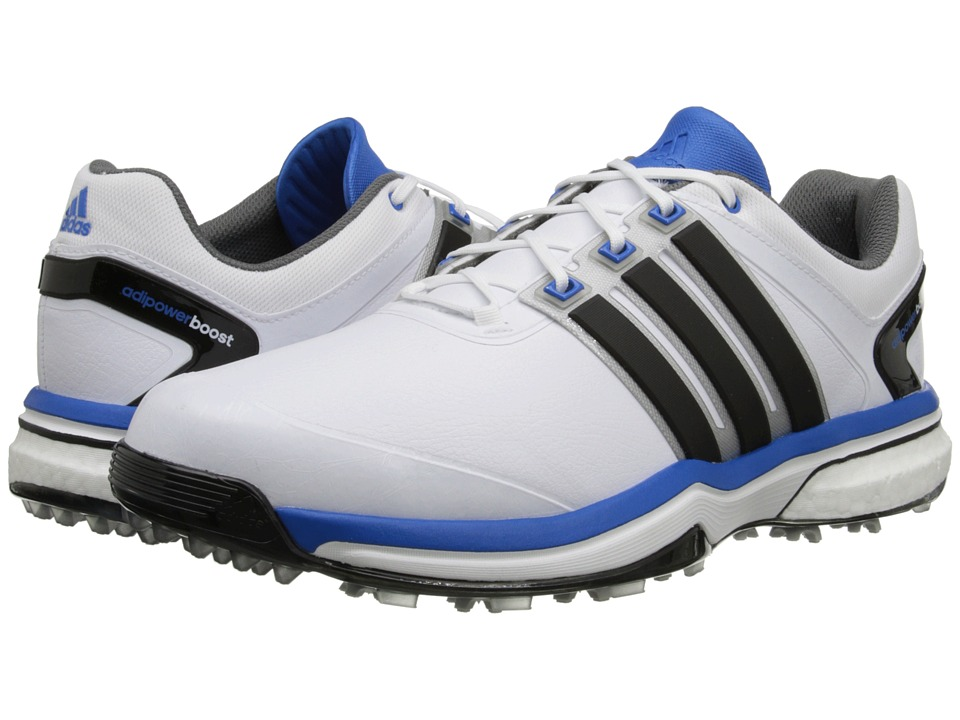 adidas Golf - adiPower Boost (Running White/Core Black/Bahia Blue) Men's Golf Shoes