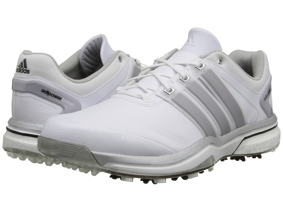adidas Golf - adiPower Boost (Running White/Silver Metallic/Running White) Men's Golf Shoes