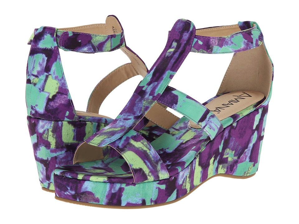 Image of Amiana - 15-A5148 (Little Kid/Big Kid/Adult) (Purple Abstract Fabric) Girls Shoes