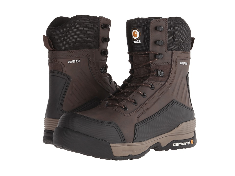Carhartt - 8 Composite Toe Waterproof Work Boot (Dark Brown) Men's Work Boots