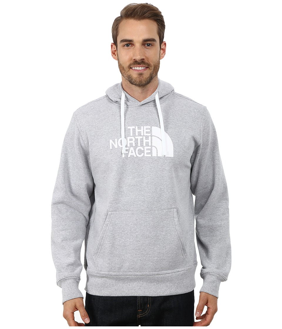 The North Face - Half Dome Hoodie (Heather Grey/TNF White 2) Men's Long Sleeve Pullover