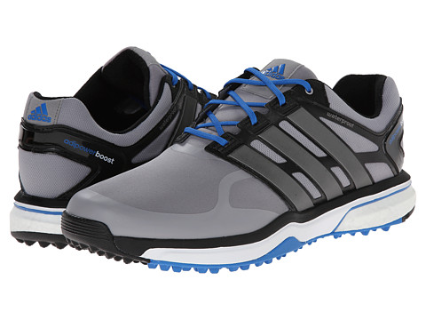 adidas Golf - adiPower Sport Boost (Light Onix/Dark Silver Metallic/Bahia Blue) Men's Golf Shoes