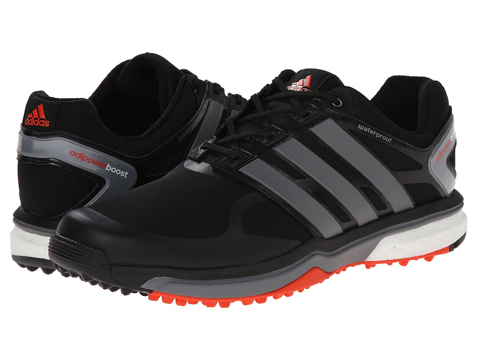 adidas Golf - adiPower Sport Boost (Core Black/Iron Metallic/Dark Orange) Men