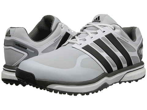 adidas Golf - adiPower Sport Boost (Clear Grey/Core Black/Bold Orange) Men's Golf Shoes