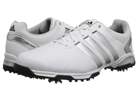 adidas Golf - adiPower TR (Running White/Metallic Silver/Core Black) Men's Golf Shoes