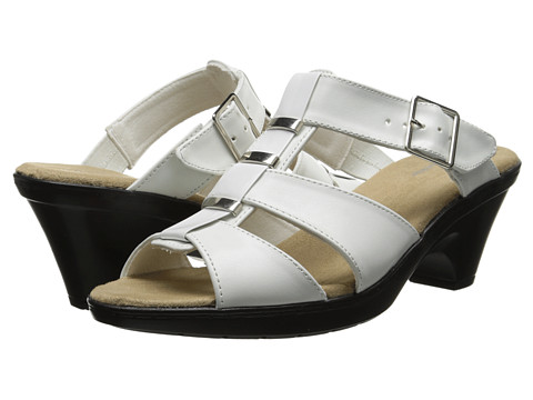 Easy Street - Barcelona (White/White Patent) Women