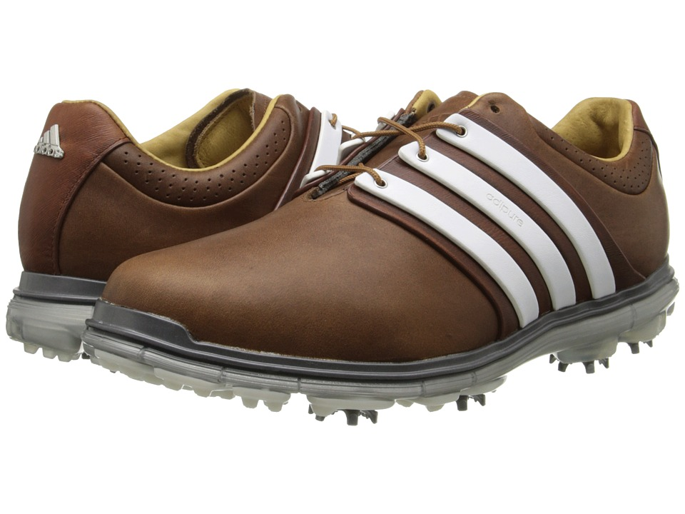 adidas Golf - Pure 360 LTD (Tan Brown/Tour White/Silver Metallic) Men's Golf Shoes