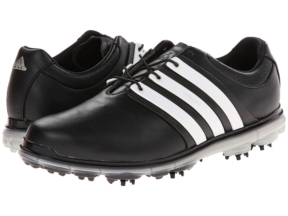 adidas Golf - Pure 360 LTD (Core Black/Running White/Silver Metallic) Men's Golf Shoes
