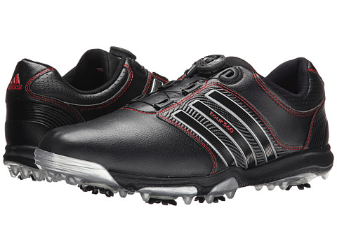 adidas Golf - Tour 360 X Boa (Core Black/Core Black/Red) Men