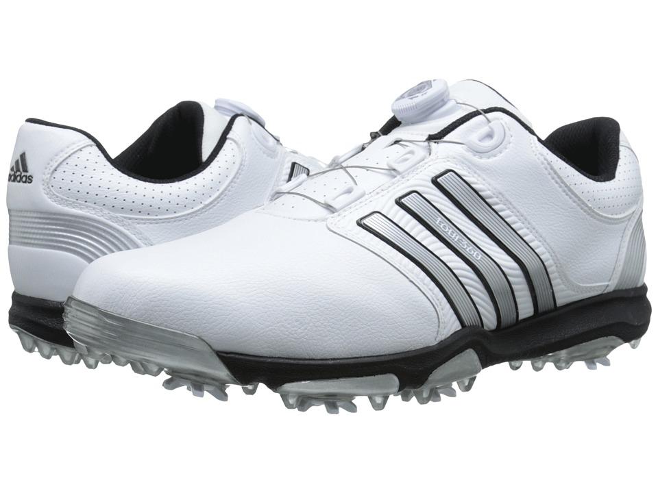adidas Golf - Tour 360 X Boa (Running White/Silver Metallic/Core Black) Men