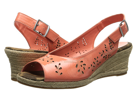 Easy Street - Sedona (Coral Patent) Women's Shoes