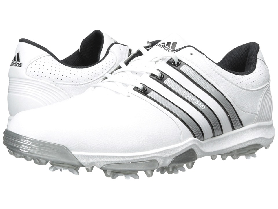 adidas Golf - Tour 360 X (Running White/Silver Metallic/Core Black) Men's Golf Shoes