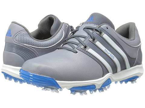 adidas Golf - Tour 360 X (Grey/Running White/Bahia Blue) Men's Golf Shoes