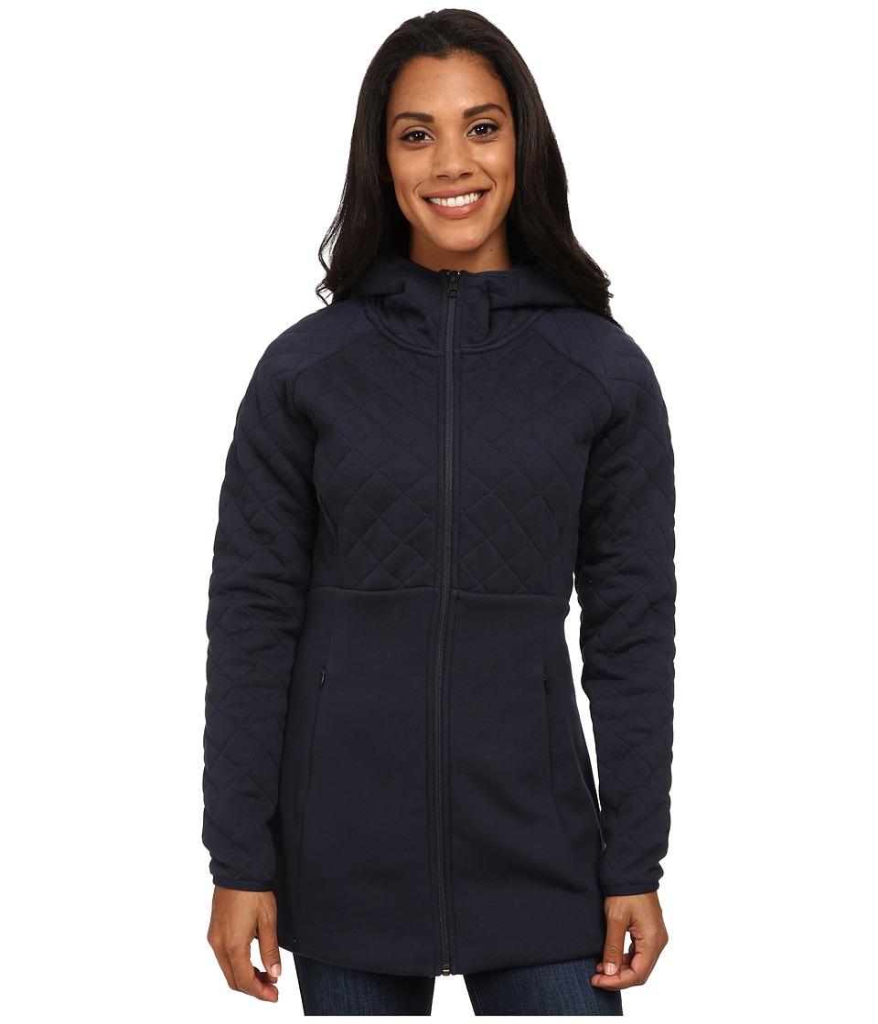 The North Face - Hooded Caroluna Jacket (Urban Navy) Women's Coat