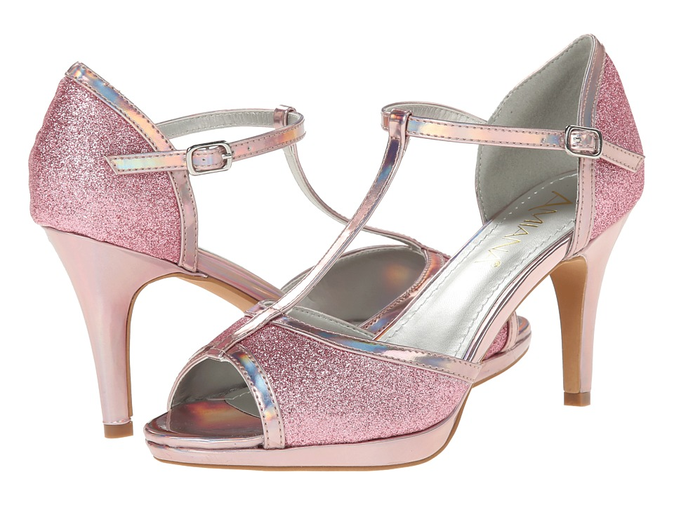 Amiana - 15-A5323 (Big Kid/Adult) (Pink Glitter/Mirror) High Heels