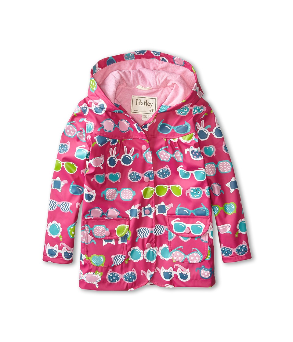 Hatley Kids - Cool Sunglasses Raincoat (Toddler/Little Kids/Big Kids) (Red) Girl's Coat