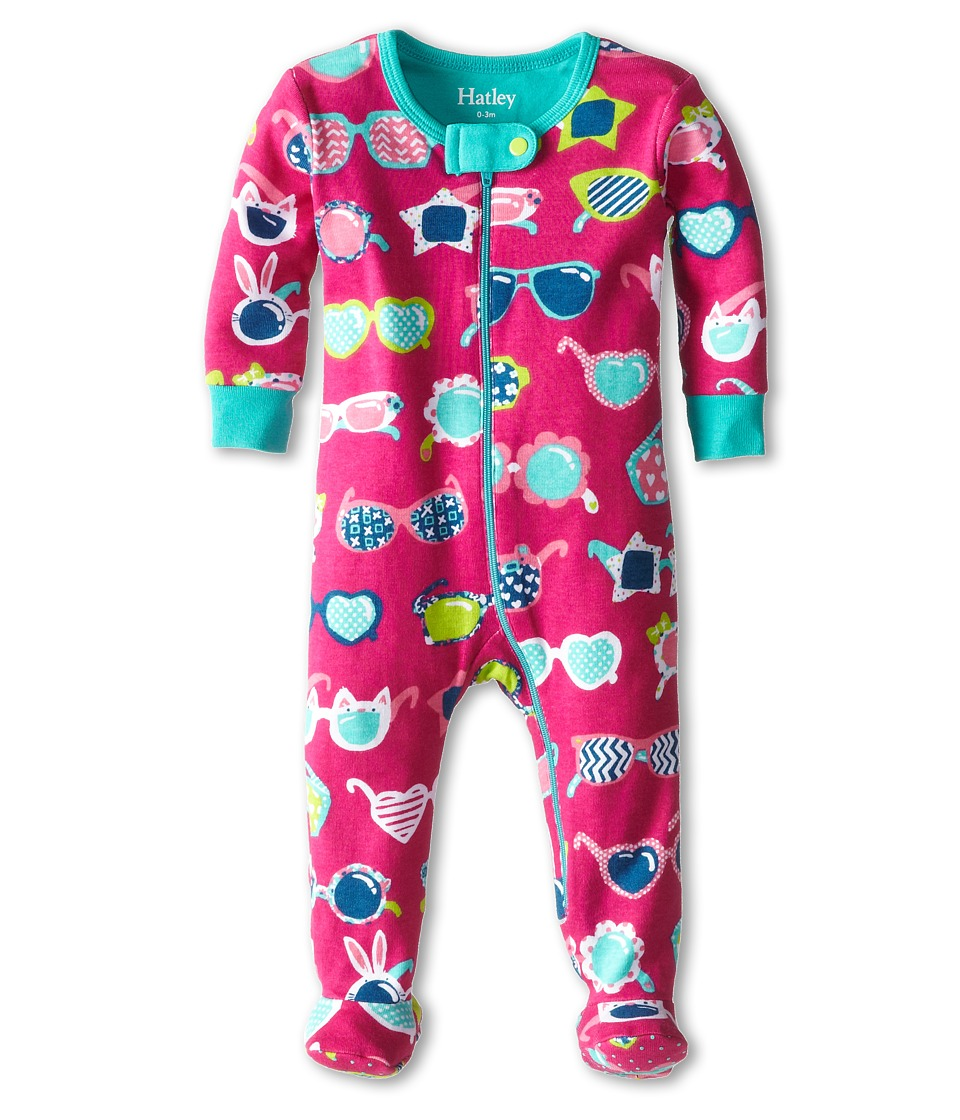 Hatley Kids - Cool Sunglasses Footed Coverall (Infant) (Red) Girl's Jumpsuit & Rompers One Piece