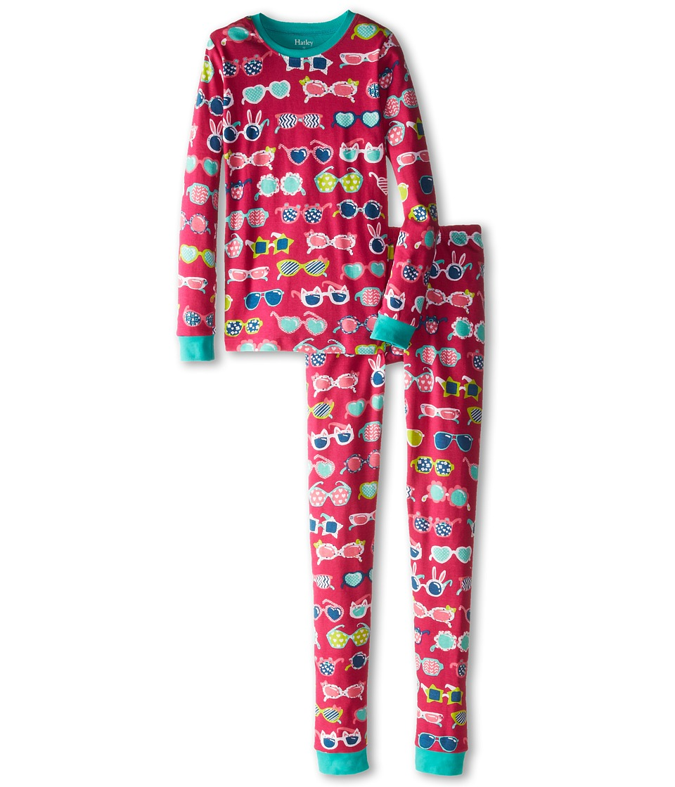 Hatley Kids - Sunglasses PJ Set (Toddler/Little Kids/Big Kids) (Red) Girl's Pajama Sets