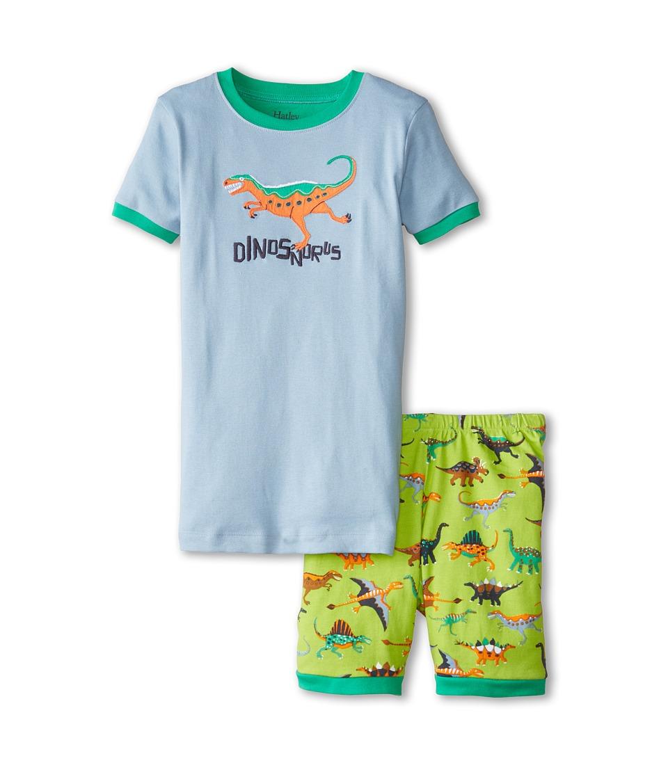 Hatley Kids - Dinos Dinosnorus Short PJ Set (Toddler/Little Kids/Big Kids) (Green) Boy