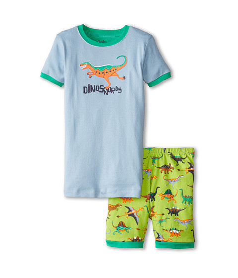 Hatley Kids - Dinos Dinosnorus Short PJ Set (Toddler/Little Kids/Big Kids) (Green) Boy
