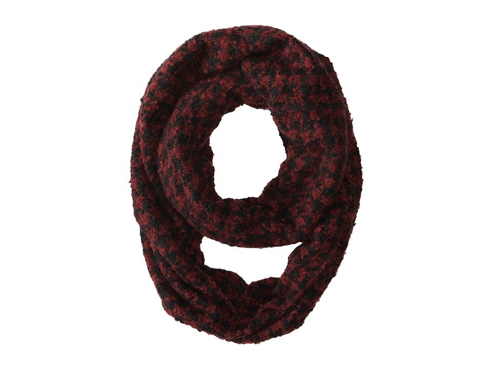 Gabriella Rocha - Houndstooth Knit Scarf (Wine) Scarves