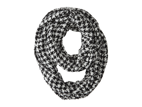 Gabriella Rocha - Houndstooth Knit Scarf (White) Scarves