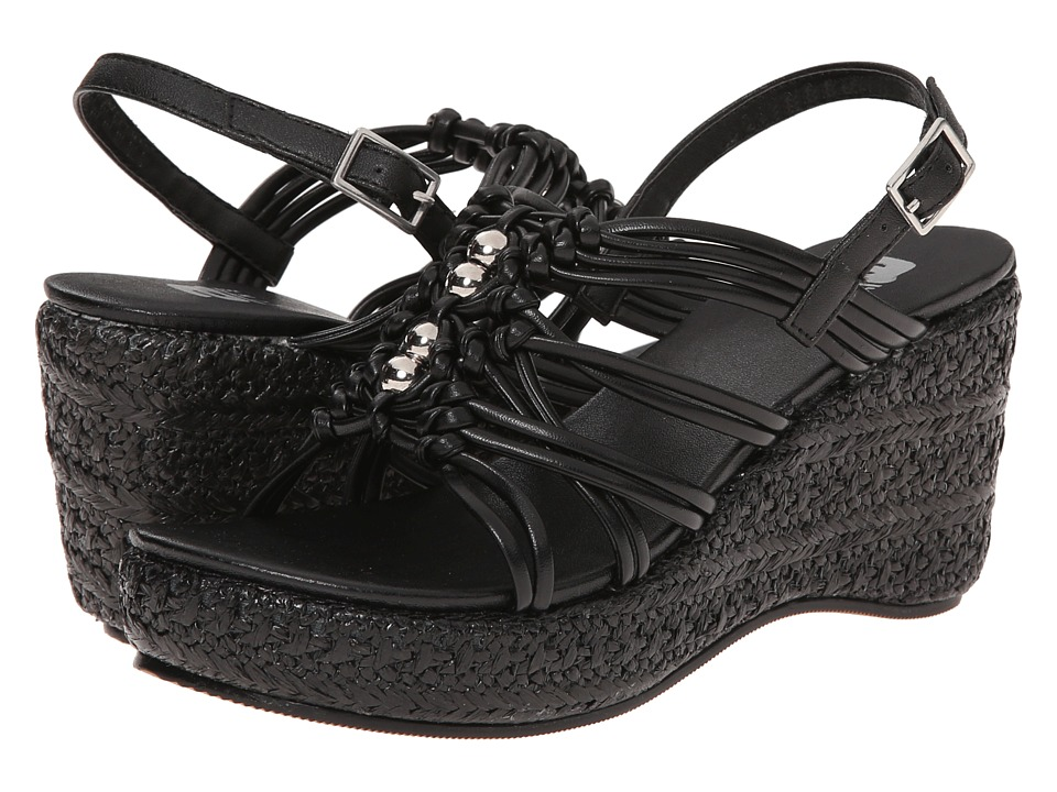 Amiana 6-A0901 (Toddler/Little Kid/Big Kid/Adult) (Black Smooth PU) Girl
