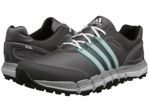 adidas Golf - pure 360 GripMore Sport (Granite/Running White/Power Green) Men's Golf Shoes
