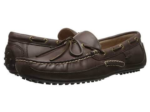 Polo Ralph Lauren - Wyndings (Dark Brown Burnished Leather) Men's Shoes