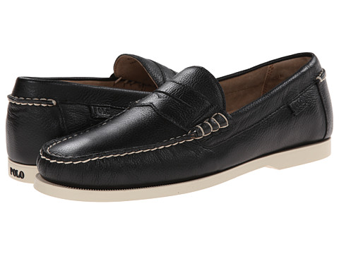 Polo Ralph Lauren - Bjorn (Black Soft Tumbled Leather) Men's Shoes