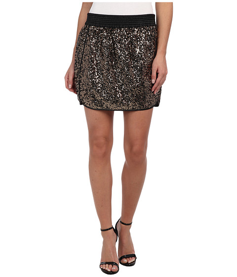 Sam Edelman - Sequin Mini Skirt (Gold) Women