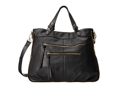Steve Madden Bloom Satchel (Black) Satchel Handbags