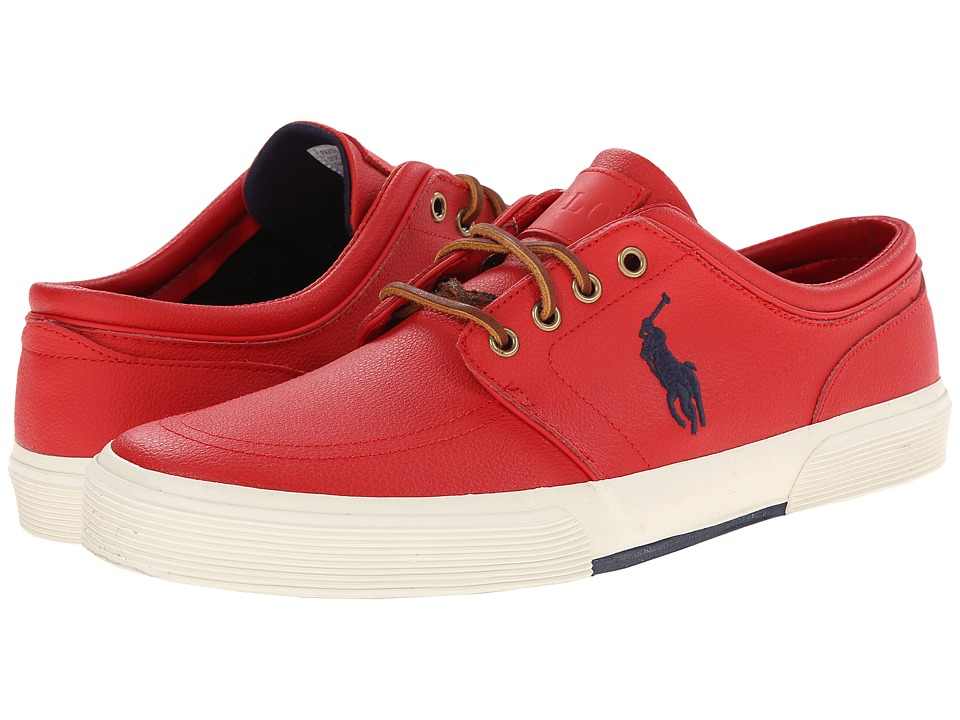 Polo Ralph Lauren - Faxon Low (Rl2000 Red Sport Leather) Men's Lace up casual Shoes