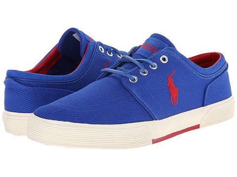 Polo Ralph Lauren - Faxon Low (Pac Royal Calvary Twill/Sport Suede) Men's Lace up casual Shoes