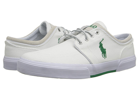 Polo Ralph Lauren - Faxon Low (Pure White Calvary Twill/Sport Suede) Men's Lace up casual Shoes