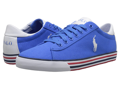 Polo Ralph Lauren - Harvey (Colby Blue/Pure White Canvas) Men's Lace up casual Shoes