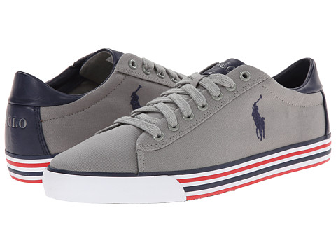 Polo Ralph Lauren - Harvey (Museum Grey/Newport Navy Canvas) Men's Lace up casual Shoes